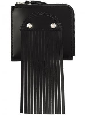 Визитница с бахромой Comme Des Garçons Wallet. Цвет: черный