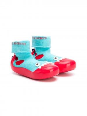 Ботинки-носки с аппликацией Mini Melissa. Цвет: синий