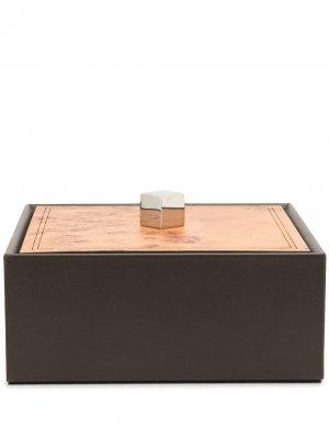 Шкатулка с контрастной крышкой Pinetti. Цвет: коричневый