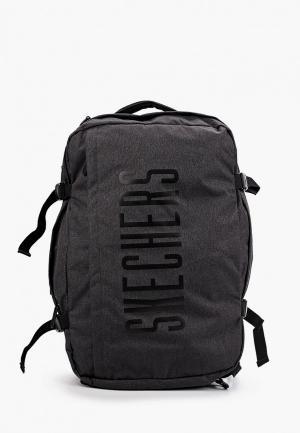 Рюкзак Skechers. Цвет: серый