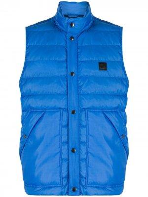 Стеганый жилет Woolrich. Цвет: синий