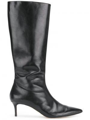 Сапоги на каблуке Christopher Kane. Цвет: черный