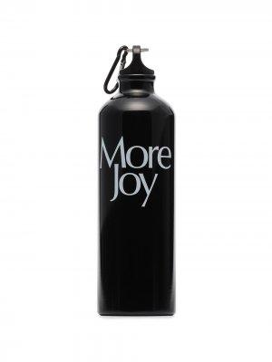 Бутылка для воды с логотипом More Joy. Цвет: черный