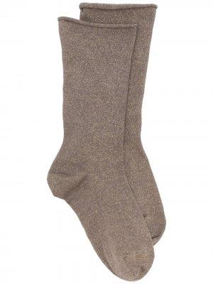 Носки тонкой вязки Brunello Cucinelli. Цвет: коричневый