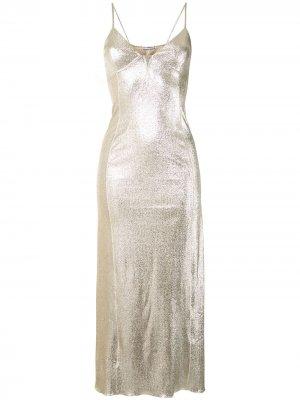 Длинное платье-халат Paco Rabanne. Цвет: красный