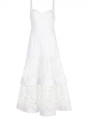 Кружевное платье макси Harlowe Alexis. Цвет: белый