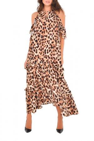 Платье MONDIGO. Цвет: леопард