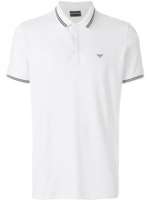 Short sleeved polo shirt Emporio Armani. Цвет: белый