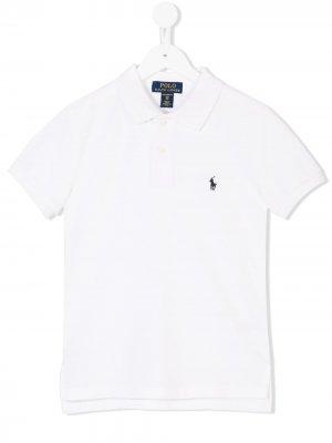 Классическая рубашка-поло Ralph Lauren Kids. Цвет: белый