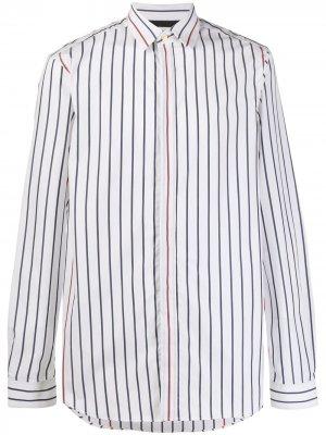 Полосатая рубашка с длинными рукавами PAUL SMITH. Цвет: белый