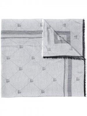Платок с принтом Philipp Plein. Цвет: серый