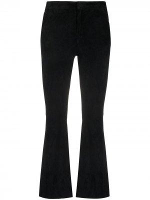Расклешенные брюки кроя слим Drome. Цвет: черный