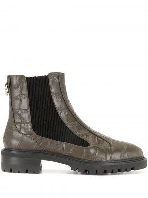 Ботинки Manu I с тиснением под кожу крокодила Senso. Цвет: коричневый