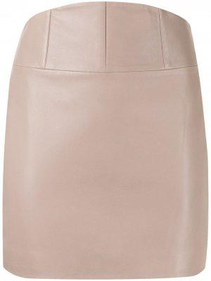 Мини-юбка со вставкой-корсетом Michelle Mason. Цвет: нейтральные цвета