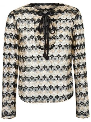 Кружевная блузка Reinaldo Lourenço. Цвет: нейтральные цвета