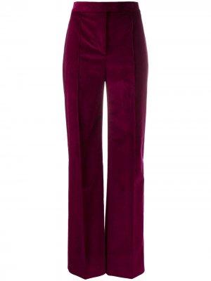 Вельветовые брюки широкого кроя Victoria Beckham. Цвет: розовый