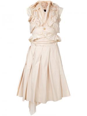 Асимметричный комплект из юбки и топа Comme Des Garçons Pre-Owned. Цвет: нейтральные цвета