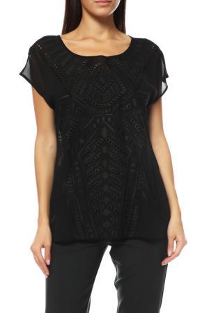 Блуза Comma. Цвет: черный