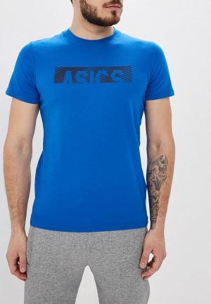 Футболка ASICS. Цвет: синий