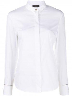 Рубашка с узким воротником Peserico. Цвет: белый