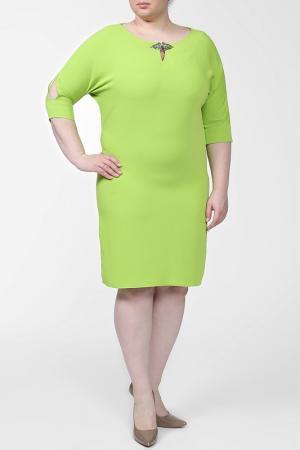 Платье First Orme. Цвет: салатовый