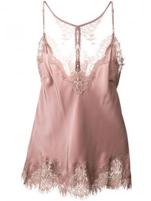 Длинное платье-комбинация Gold Hawk. Цвет: розовый