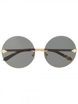 Солнцезащитные очки Disco Circus в круглой оправе Karen Walker. Цвет: золотистый