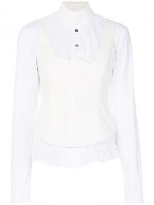 Рубашка с корсетной деталью Alyx. Цвет: белый