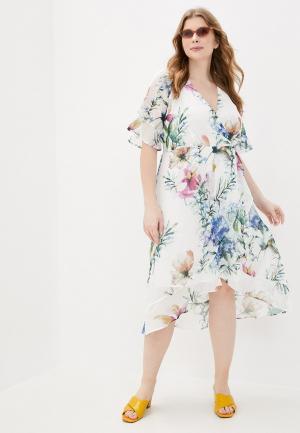 Платье Zizzi. Цвет: белый