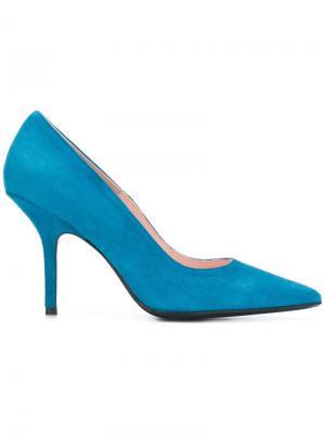 Туфли-лодочки на шпильке Anna F.. Цвет: синий