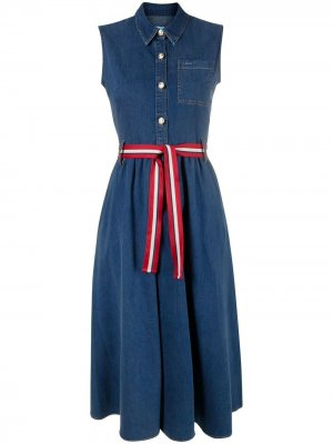 Джинсовое платье без рукавов LIU JO. Цвет: синий