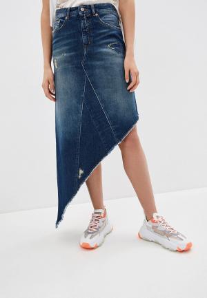Юбка джинсовая MM6 Maison Margiela. Цвет: синий