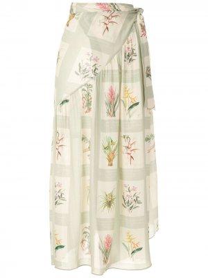 Пляжная юбка с принтом Adriana Degreas. Цвет: разноцветный