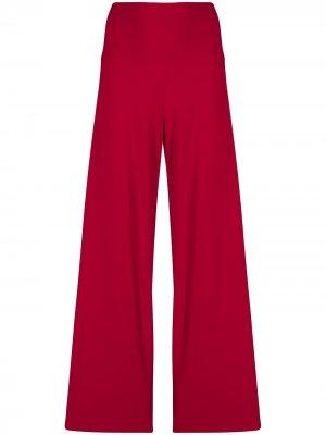 Расклешенные брюки широкого кроя Norma Kamali. Цвет: красный