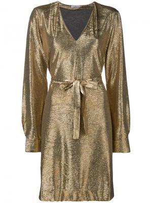 Платье с длинными рукавами Ps By Paul Smith. Цвет: металлик