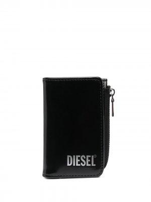 Кошелек-ключница на молнии Diesel. Цвет: черный