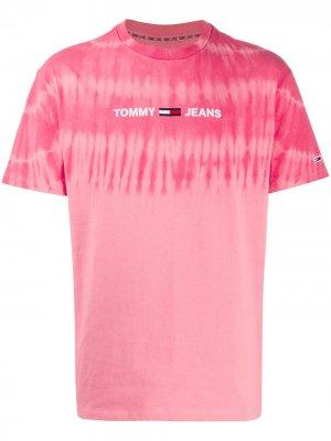Футболка с принтом тай-дай Tommy Jeans. Цвет: розовый