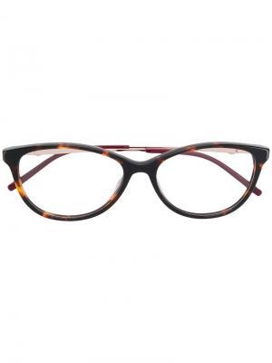 Очки в оправе кошачий глаз Pierre Cardin Eyewear. Цвет: коричневый