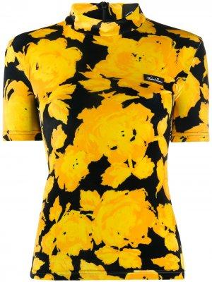 Блузка с цветочным принтом Richard Quinn. Цвет: желтый