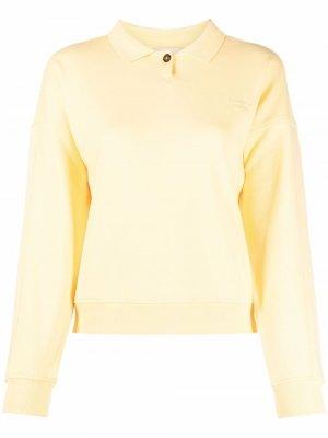 Рубашка поло Tiger из органического хлопка Paloma Wool. Цвет: желтый