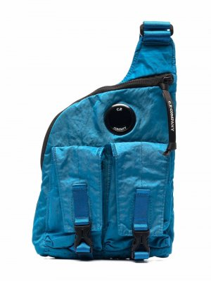 Рюкзак через плечо C.P. Company Kids. Цвет: синий