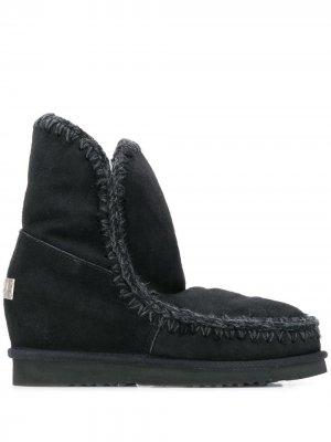 Ботинки Eskimo на танкетке Mou. Цвет: черный