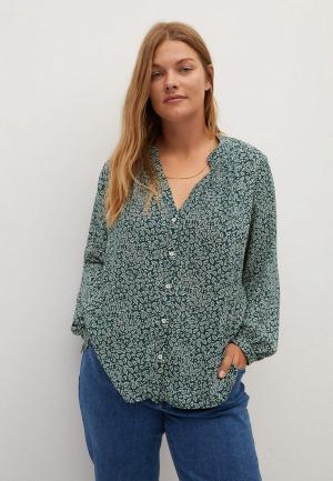 Блуза Violeta by Mango. Цвет: зеленый