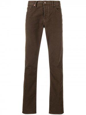 Прямые джинсы средней посадки TOM FORD. Цвет: коричневый