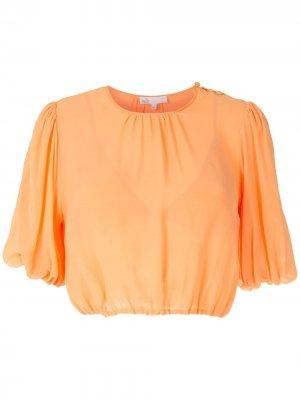 Укороченная блузка Nk. Цвет: оранжевый