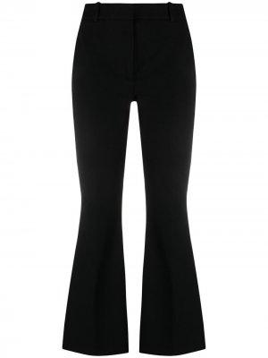 Укороченные расклешенные брюки Joseph. Цвет: черный