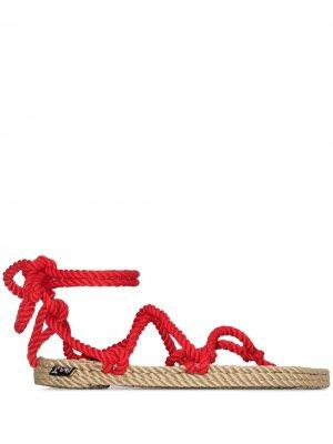 Сандалии Romano с веревочными ремешками Nomadic State of Mind. Цвет: красный
