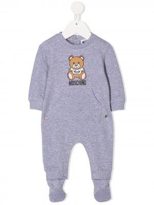Пижама с принтом Moschino Kids. Цвет: серый