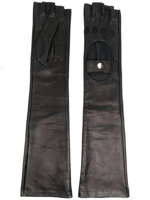 Длинные перчатки Manokhi. Цвет: черный