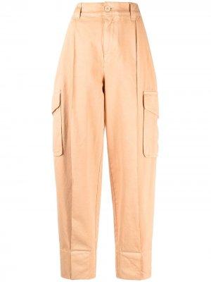 Зауженные брюки с завышенной талией See by Chloé. Цвет: оранжевый